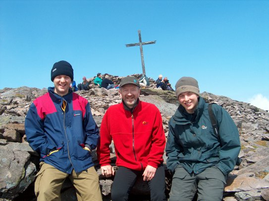 Me (on left), my father and brother on Carrauntoohil, Ireland's highest mountain.
